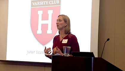 Harvard Athletics on the Road: Chicago | Stephanie Wriede Morawski,  The Costin Family Head Coach for Harvard Women's Swimming & Diving